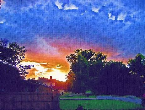 Coming Sunset Vibrancy by Skyler Tipton
