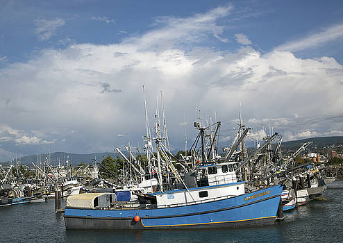 Commerical Fishing Boats by Elvira Butler