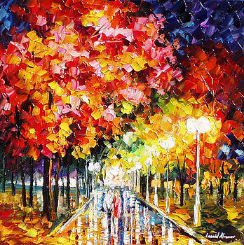 Commitment Of Love - PALETTE KNIFE Oil Painting On Canvas By Leonid Afremov by Leonid Afremov