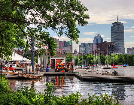Community Boating Kayaks and Sailboats - Boston by Joann Vitali