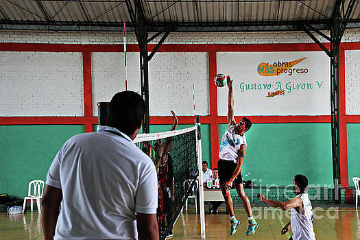Competitive Volleyball In Andalucia, Colombia by Al Bourassa
