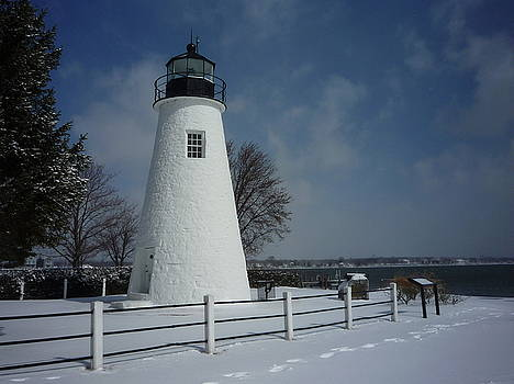Concord Pt. Lighthouse in Winter by Ben Michalski