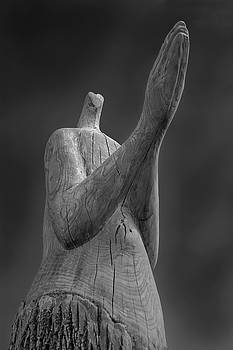 Condemned Tree Sculpture - B W by Greg Thiemeyer