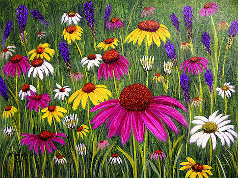 Cone flowers by Maggie Ullmann