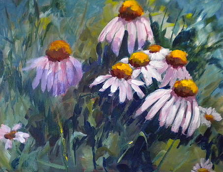 Cone Flowers by Sally Bullers