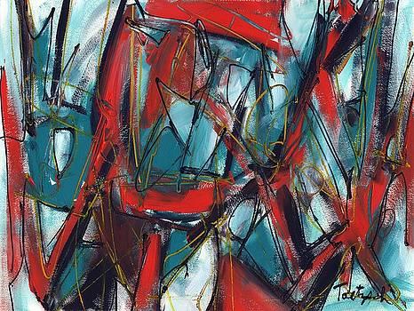 Contemporary Art Five by Lynne Taetzsch