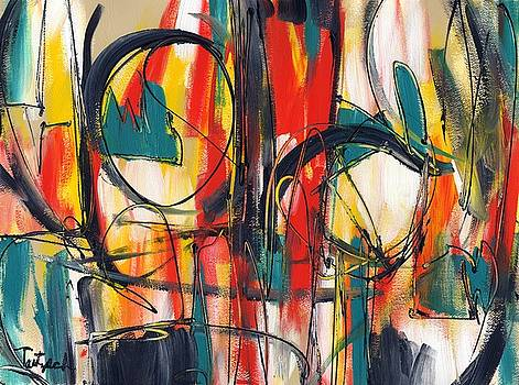 Contemporary Art Four by Lynne Taetzsch