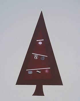 Contemporary Christmas Tree by Sandy Bostelman