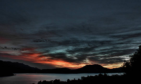 Contrasted Sunset in Valle by David Resnikoff