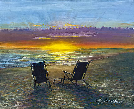 Conversation on the Beach by Maryann Boysen