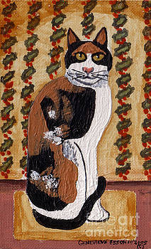 Cool Calico Cat by Genevieve Esson