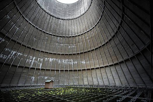 Cooling tower secret little house by Dirk Ercken