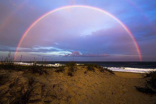 Coopers Beach Full Rainbow by Ryan Moore
