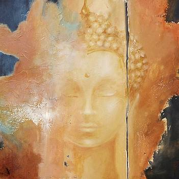 Copper Buddha by Dina Dargo
