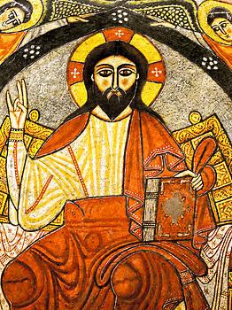 Coptic Christ Pantocrator by Nigel Fletcher-Jones