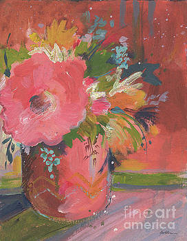 Coral Glitter by Sheila Golden