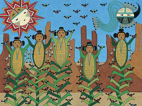 Corn Maidens by Medana Gabbard