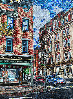 Corner of Dietz and Main Oneonta NY by Micah Mullen