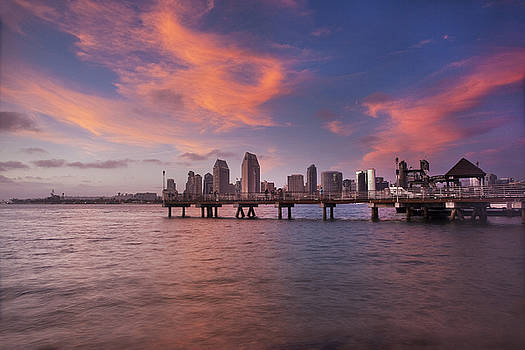 Coronado Ferry Landing Sunset by Scott Cunningham