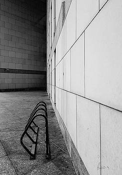 Corridor in black and white by Bruce Carpenter