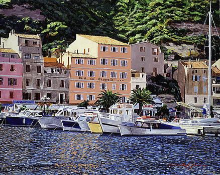 Corsica Boats by David Lloyd Glover