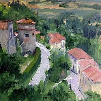 Cortona, Italy Valley by Carol Hopper
