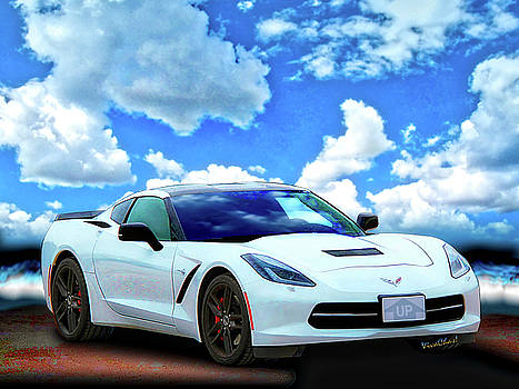 Corvette C-7 Day at the Beach by Chas Sinklier