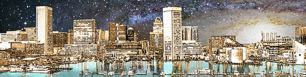 Cosmic Harbor - Pano by Brian Wallace
