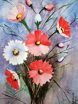 Cosmos Flowers 1 by Dipali Deshpande