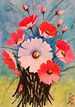 Cosmos Flowers 2 by Dipali Deshpande