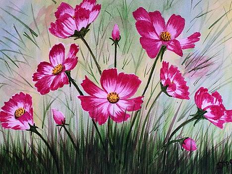 Cosmos Flowers 3 by Dipali Deshpande