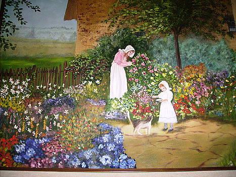 Cottage Garden by Phyllis Miller