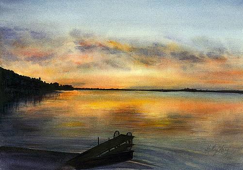 Cottage Sunset by Kathy Harker-Fiander