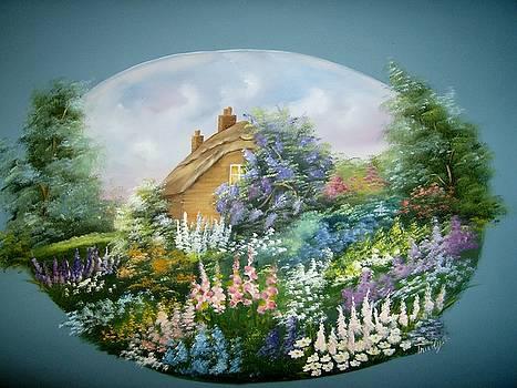 Cottage Vignette by Debra Campbell