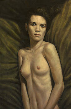 James W Johnson - Couched Woman with Big Eyes