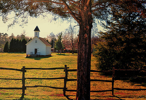 Country Church - circa 1892 by George Bostian