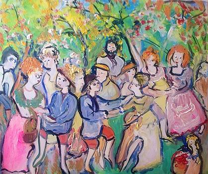 Country folks dancing  by Judith Desrosiers