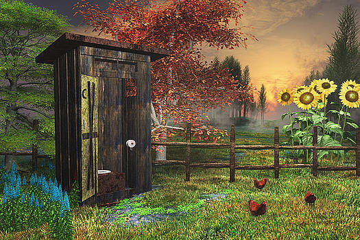 Country Outhouse by Mary Almond