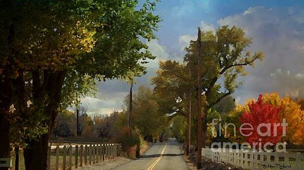 Country Road in the Fall Painting by Bobbee Rickard