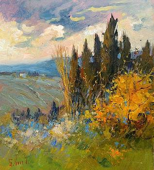 Country sunset Tuscany by Giampiero Novelli