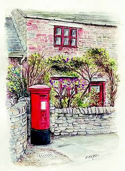 Country Village Post Box by Morgan Fitzsimons