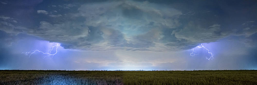 Country Wheat Field Storm Panorama by James BO Insogna