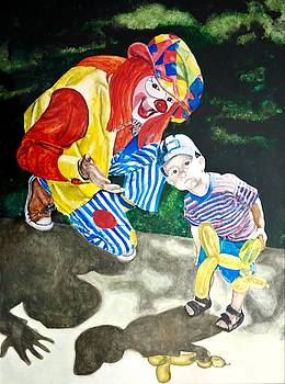 Couple of Clowns by Lance Gebhardt