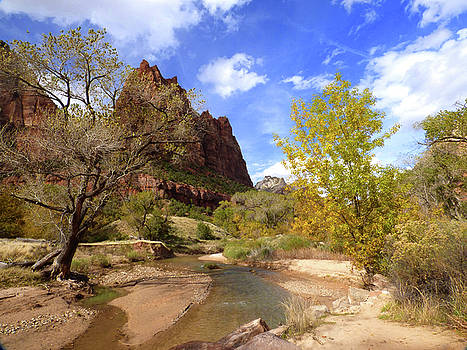Court of the Patriarchs and Virgin River by Marcia Socolik