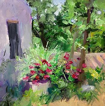 Courtyard Flowers by Carol Hopper