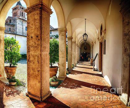 Courtyard of Villa D'Este in Tivoli by George Oze