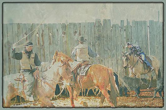 Kae Cheatham - Cowboys Working the Spring Calves