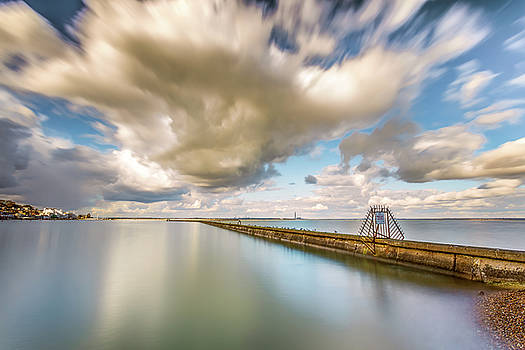 Cowes Breakwater Isle Of Wight by English Landscapes