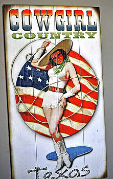 Cowgirl Pin-up Texas by Jay Milo