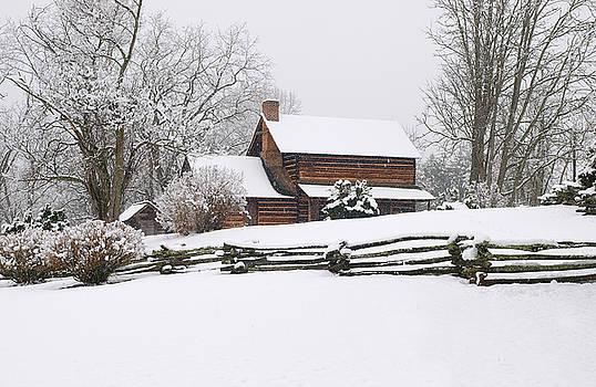 Cozy Snow Cabin by JK York